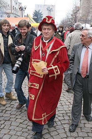 Фестиваль Біле вино - 2008 в Берегові. Мер міста Іштван Гайдош